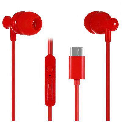 KSD - K12C Type-C Plug In-ear Stereo Earphones Hands-free Call