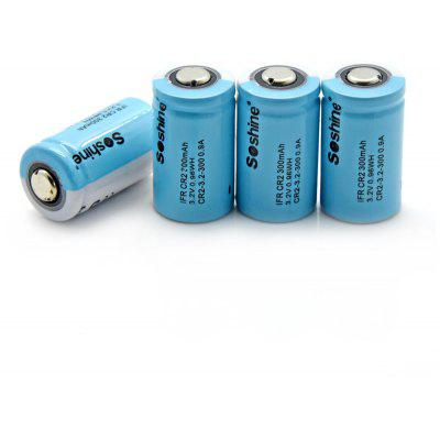 Soshine 4PCS IFR CR2 Lithium Iron Phosphate Rechargeable Battery