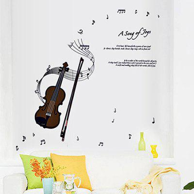 LAIMA QT0094 Creative Violin Notes Wall Sticker