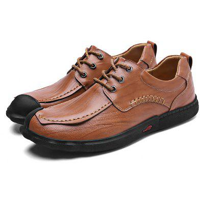 Male Soft Genuine Leather Casual Oxford Shoes
