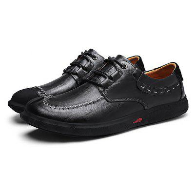 Male Manual Soft Genuine Leather Casual Oxford Shoes
