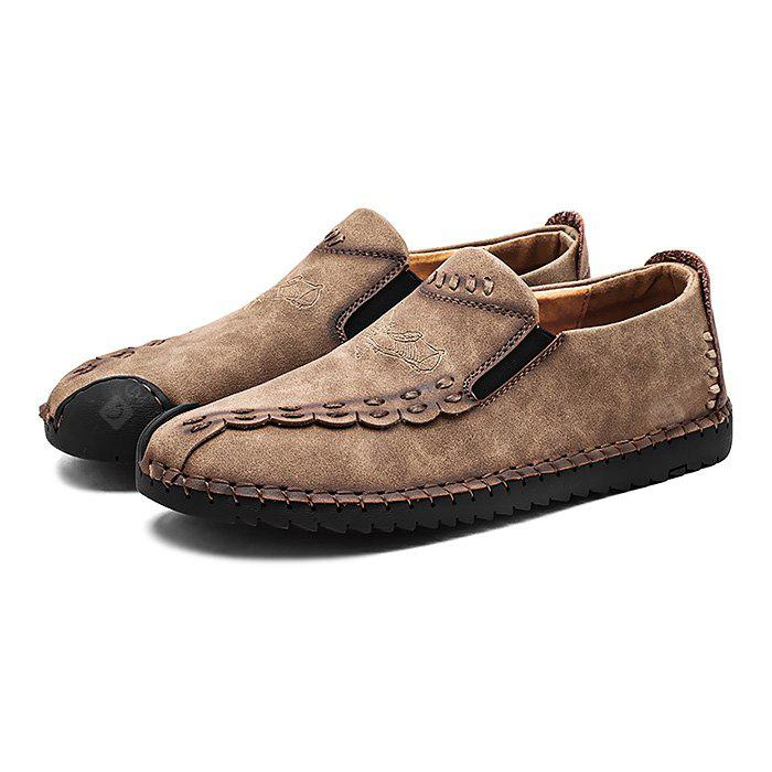 Male Stylish Soft Motif Manual Casual Oxford Shoes
