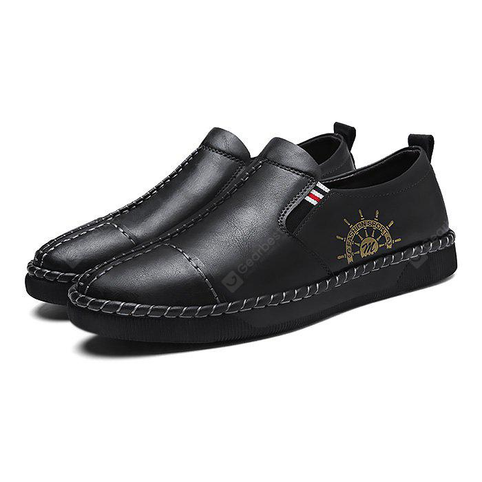 Male Trendy Anchor Motif Stripes Soft Casual Oxford Shoes