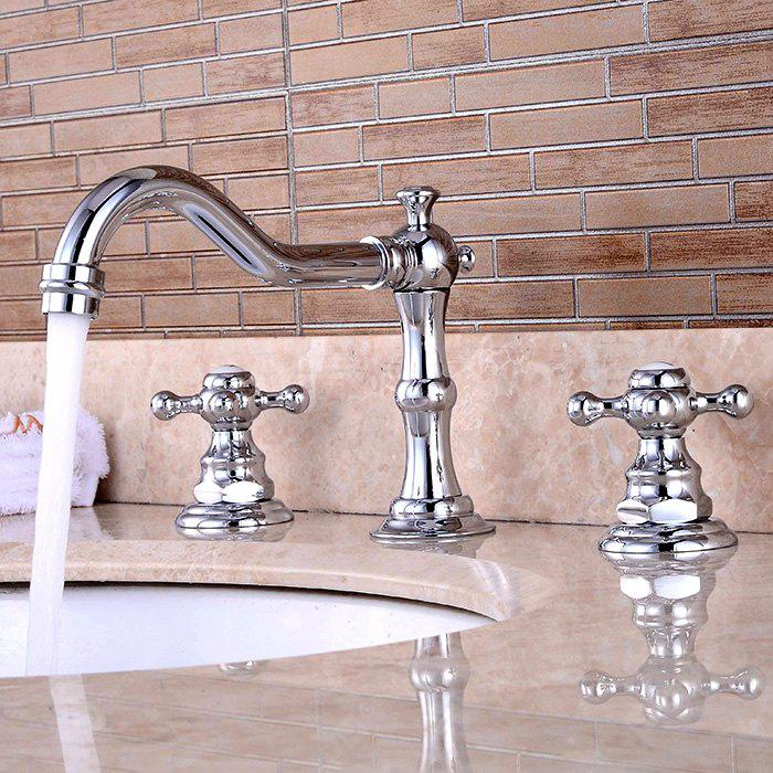 LING HAO Contemporary Two Handles Bathroom Sink Faucet