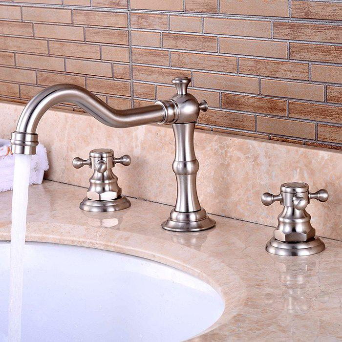 LING HAO Two Handles Bathroom Basin Faucet