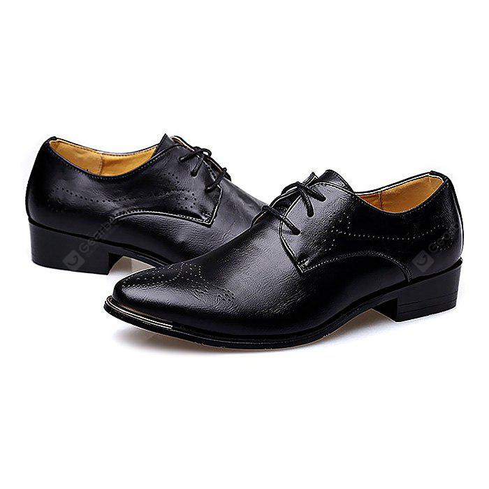 BLACK Male Breathable Soft Slinky Casual Oxford Shoes