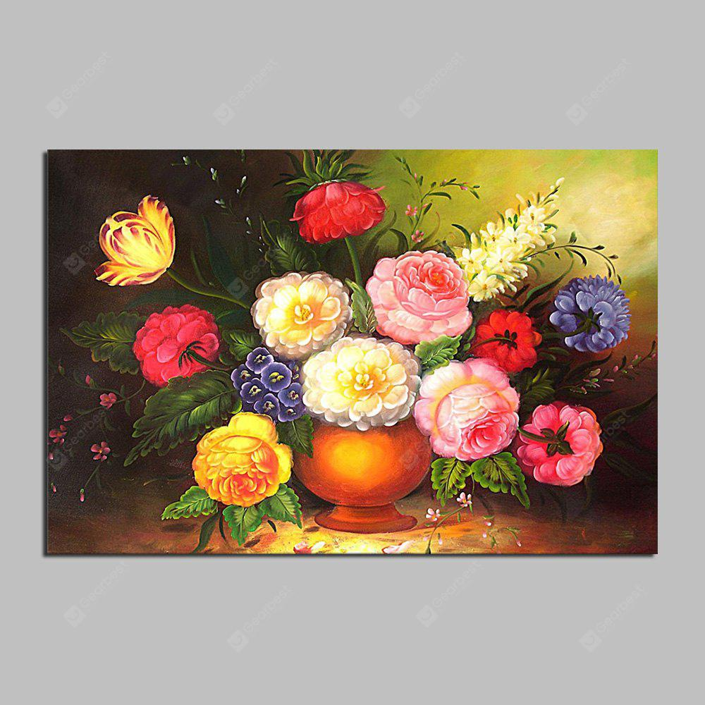 HuaTuo Modern Colorful Flowers Hand Painted Oil Painting