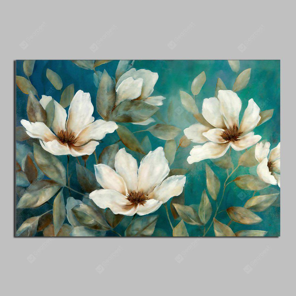 HuaTuo Modern White Flowers Hand Painted Oil Painting