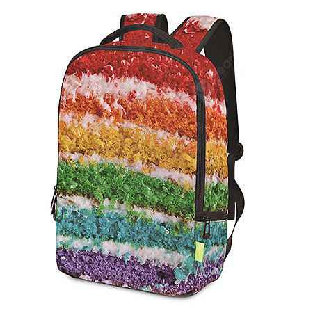 Men Fashion Colorful 3D Printed Water-resistant Backpack