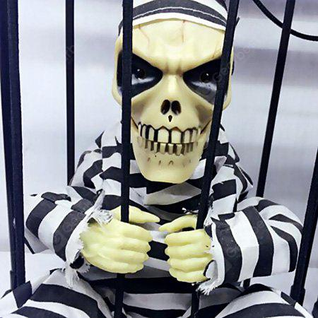 Halloween Decor Horrible Ghost Cage Light Control Toy