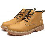 Trendy Slip Resistant Leisure Boots for Men - YELLOW