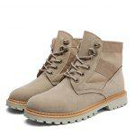 Fashion Microfiber Leisure Boots for Men - SAND YELLOW