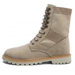 Fashion Lace-up Slip Resistant Boots for Men - SAND YELLOW