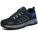 Male Cofortable Hiking / Climbing Lace-up Shoes - DEEP BLUE