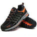 Male Cofortable Hiking / Climbing Lace-up Shoes - BLACK