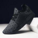 Male Ligth Weight Casual Athletic Shoes - BLACK GREY