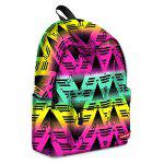Men Fashion Colorful Printed Backpack - COLORMIX