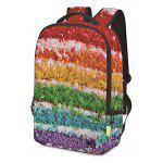 Men Fashion Colorful 3D Printed Water-resistant Backpack - COLORMIX