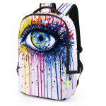 Men Fashion 3D Printed Water-resistant Backpack - COLORMIX