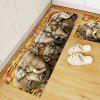 3D Printing Stereo Elephant Pattern Non-slip Area Rug - COLORMIX
