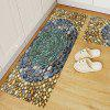 3D Printing Smooth Stones Pattern Non-slip Area Rug - YELLOW