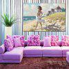 HuaTuo Modern Beach Beauty Hand Painted Oil Painting - COLORMIX