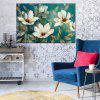 HuaTuo Modern White Flowers Hand Painted Oil Painting - COLORMIX