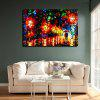 Macroart Modern Colorful Street View Hand Painted Oil Painting - COLORMIX
