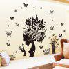 LAIMA Artistic Beauty Butterfly Wall Sticker for Decoration - BLACK