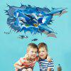 LAIMA 3D Dolphins Shape Wall Sticker Decoration - COLORMIX