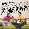 LAIMA Creative Stylish Rock Music Wall Sticker Decoration - BLACK