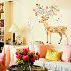 LAIMA Cartoon Sika Deer Wall Sticker for Home Decoration - COLORMIX