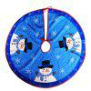 Exquisite Snowman Tree Skirt Thick Christmas Ornament - COLORMIX