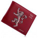 Men Chic Printing Bifold PU Wallet - RED