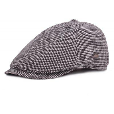 Men Chic Checked Cotton Beret Hat