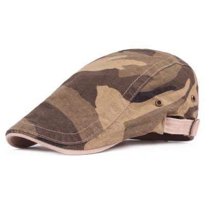 Men Fashionable Cotton Beret Hat with Camo Pattern