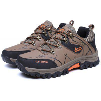 Buy BROWN 40 Plus Size Low Top Lace-up Hiking Shoes for Men for $36.15 in GearBest store