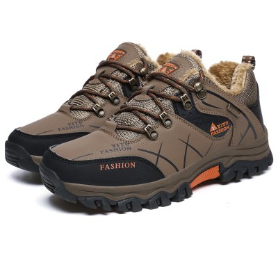 Men Winter Wool Keep Warm Low-top Shoes for Hiking / Climbing
