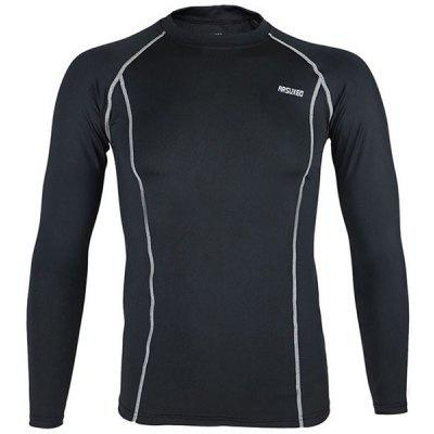 Buy BLACK M Arsuxeo C19 Fleeces Men Cycling Jersey Long Sleeve Bike Bicycle Outdoor Racing Running Clothes for $11.93 in GearBest store