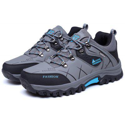Buy GRAY 46 Plus Size Low Top Lace-up Hiking Shoes for Men for $36.15 in GearBest store