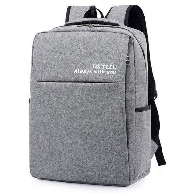 Buy LIGHT GRAY Men Solid Color Canvas Laptop Backpack for $23.93 in GearBest store