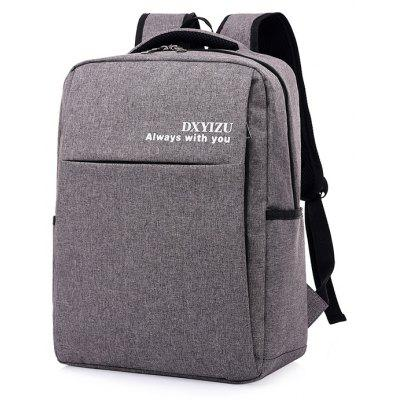 Buy DEEP GRAY Men Solid Color Canvas Laptop Backpack for $23.93 in GearBest store