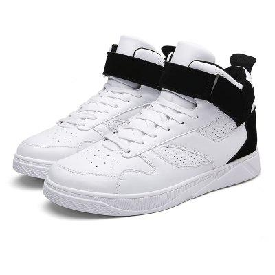 Buy WHITE Medium Top Buckle Skateboarding Shoes for Men for $29.80 in GearBest store