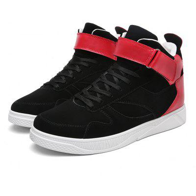 Buy BLACK RED Medium Top Buckle Skateboarding Shoes for Men for $29.80 in GearBest store