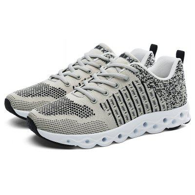 Buy GRAY Breathable Athletic Shoes with MD Soles for Men for $32.85 in GearBest store