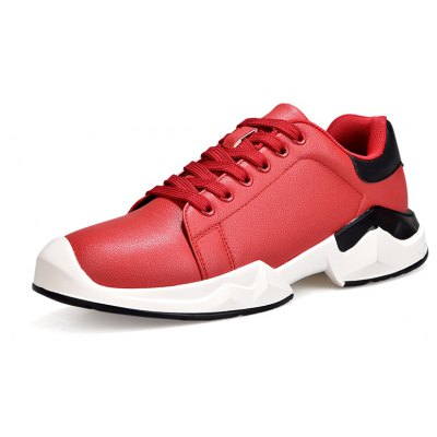 Men Fashionable PU Upper Athletic Shoes
