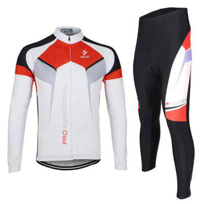 Buy WHITE XL Arsuxeo ZLS07X Men Cycling Suit Jersey Jacket Pants Kit Long Sleeve Bike Bicycle Outdoor Running Clothes for $55.98 in GearBest store