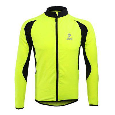 Buy GREEN 3XL Arsuxeo 130022 Breathable Men Cycling Jersey Long Sleeve Bike Bicycle Outdoor Sports Running Clothes for $28.31 in GearBest store
