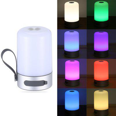 Portable USB Powered 200Lm Rechargeable LED Smart LightSmart Lighting<br>Portable USB Powered 200Lm Rechargeable LED Smart Light<br><br>Available Light Color: Colorful,White<br>Battery: Built-in 2600mAh Rechargeable Batteru<br>Emitter Types: SMD 5730<br>Features: Lightweight, Easy to use, Energy Saving<br>Function: Home Lighting<br>Holder: Other<br>Luminous Flux: 200Lm<br>Output Power: 2W<br>Package Contents: 1 x Smart Light, 1 x Multi-language User Manual, 1 x USB Cable<br>Package size (L x W x H): 61.00 x 49.00 x 19.50 cm / 24.02 x 19.29 x 7.68 inches<br>Package weight: 0.3600 kg<br>Product size (L x W x H): 9.00 x 9.00 x 14.40 cm / 3.54 x 3.54 x 5.67 inches<br>Product weight: 0.2800 kg<br>Sheathing Material: Aluminum Alloy, PC<br>Voltage (V): DC 5V