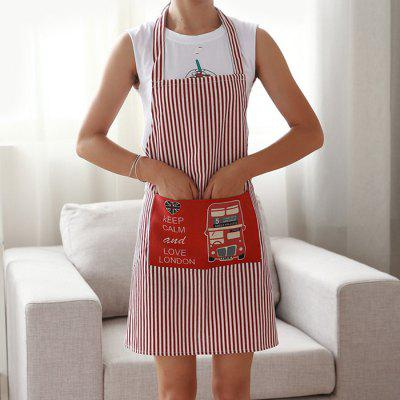 Creative Spoof Embroidery Stripe Waterproof Antifouling Durable Comfortable Apron